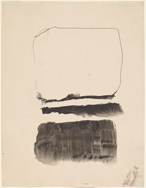 Mark Rothko, Untitled, 1961, pen and ink and wash on woven paper