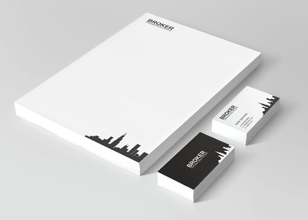 This is a clean and elegant #realestate stationery for your inspiration.