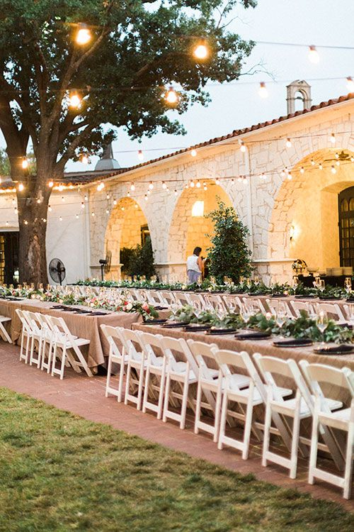 Long Tables at Outdoor Reception | Brides.com