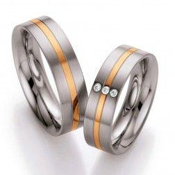 Set Trouwringen Steel Gold 138