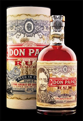 Don Papa Rum by Stranger & Stranger. Look closely at these beautiful #illustrations #packaging PD