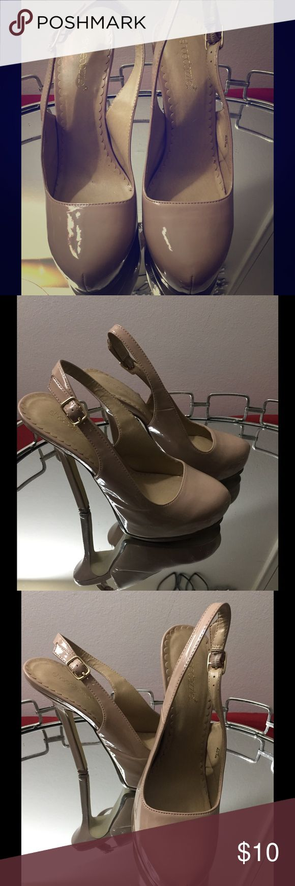 Nude Shoe Dazzle Sling Back Shoe Dazzle Nude Slingback Pump.. In very good condition Shoe Dazzle Shoes Heels