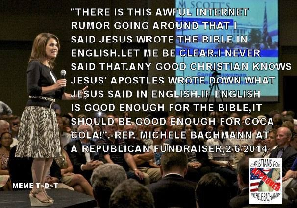 michelle bachman is an idiot.