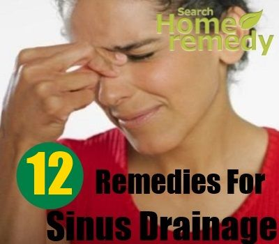 how to stop sinus drainage naturally