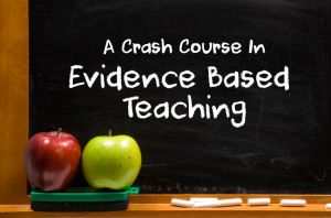 Information about Evidence Based Teaching. Important to be aware of for future reference and to look back on when implementing RTI.