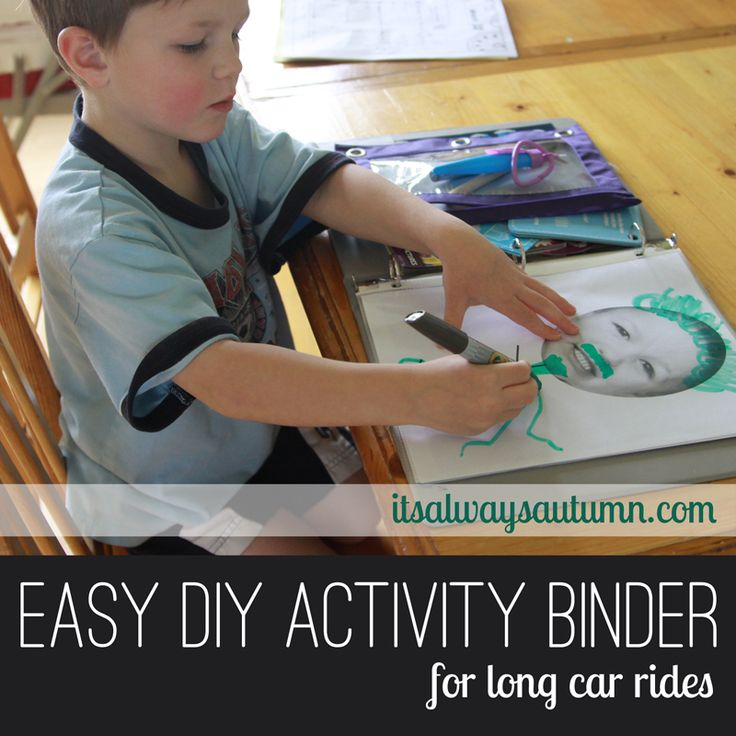 Disneyland week: what to do in the car - preschooler activity binder for long car rides - it's always autumn