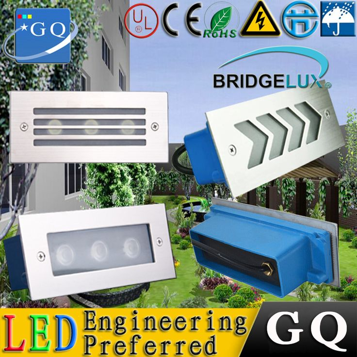 110*45*55mm  Led Wall Corner Lamp 3W LED Recessed Step Stair Light Waterproof Basement Porch Pathway Bulb Warm White