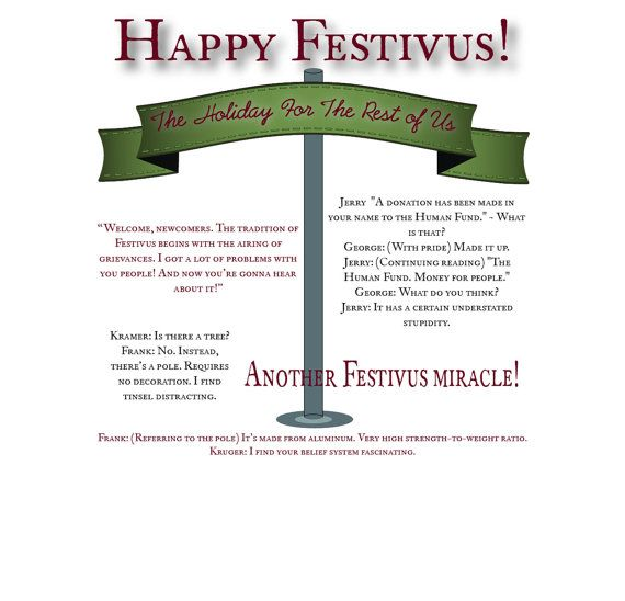 Happy Festivus - holiday card - festivus card #papergoods @EtsyMktgTool http://etsy.me/2i0kBql