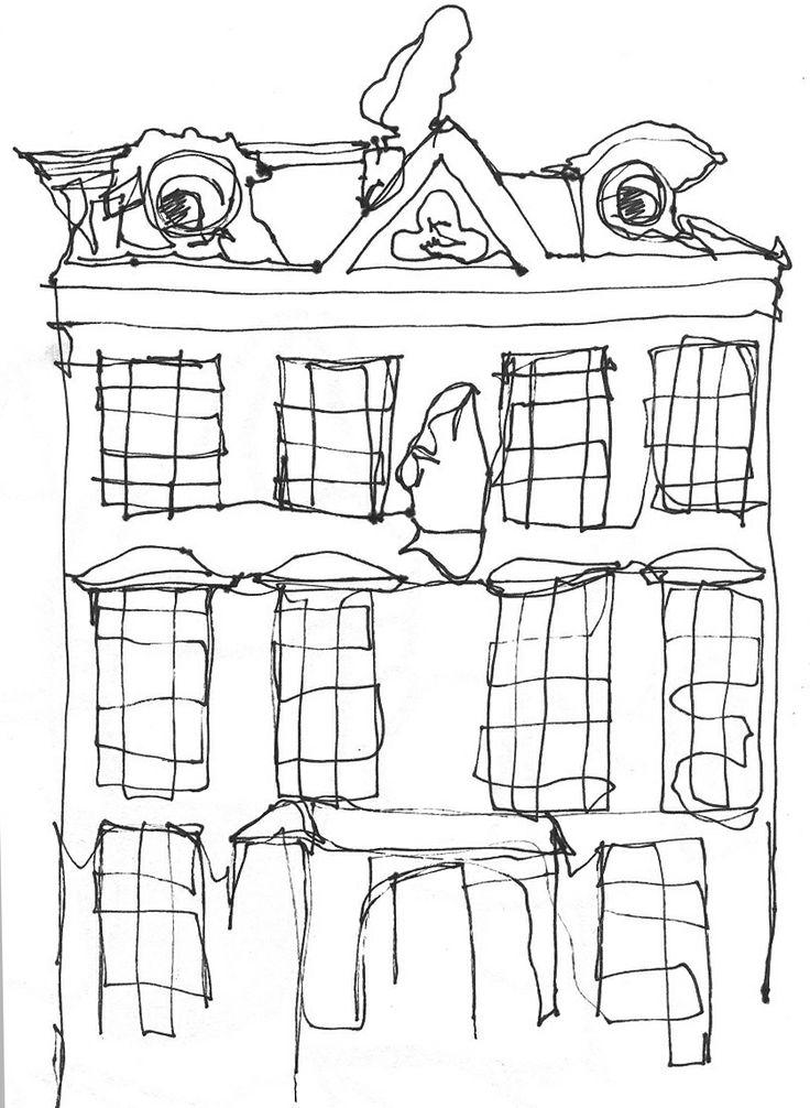 Line Drawing Buildings : Images about line on pinterest contour
