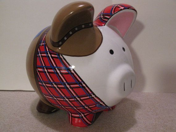 Cowboy Piggy Bank ~ One for my dad