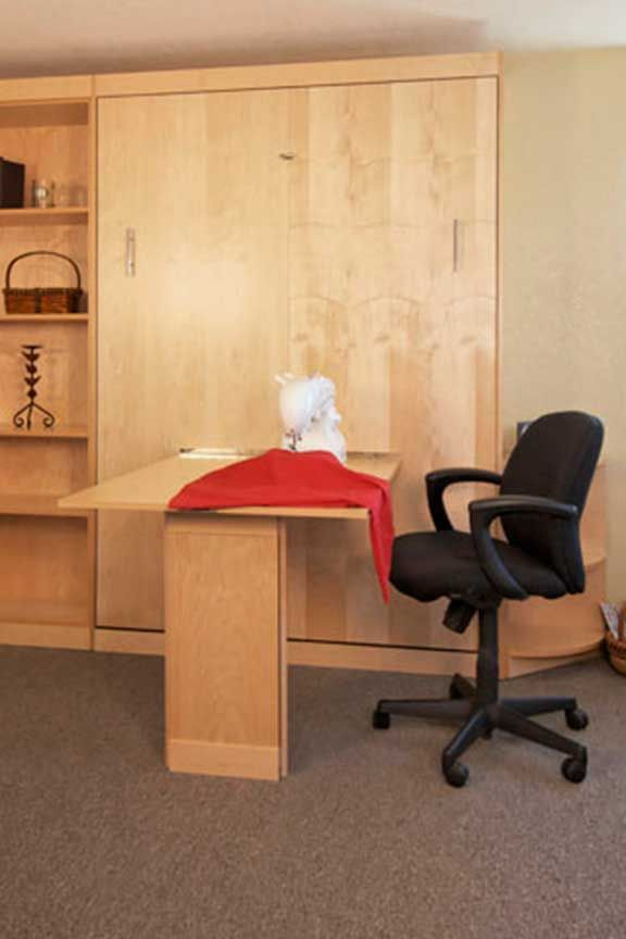 17 best images about guest room makeover on pinterest for Murphy bed desk folds