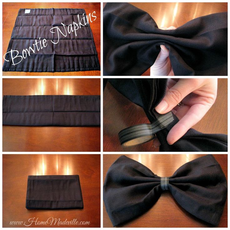 Step by Step How to Bowtie Napkin Fold