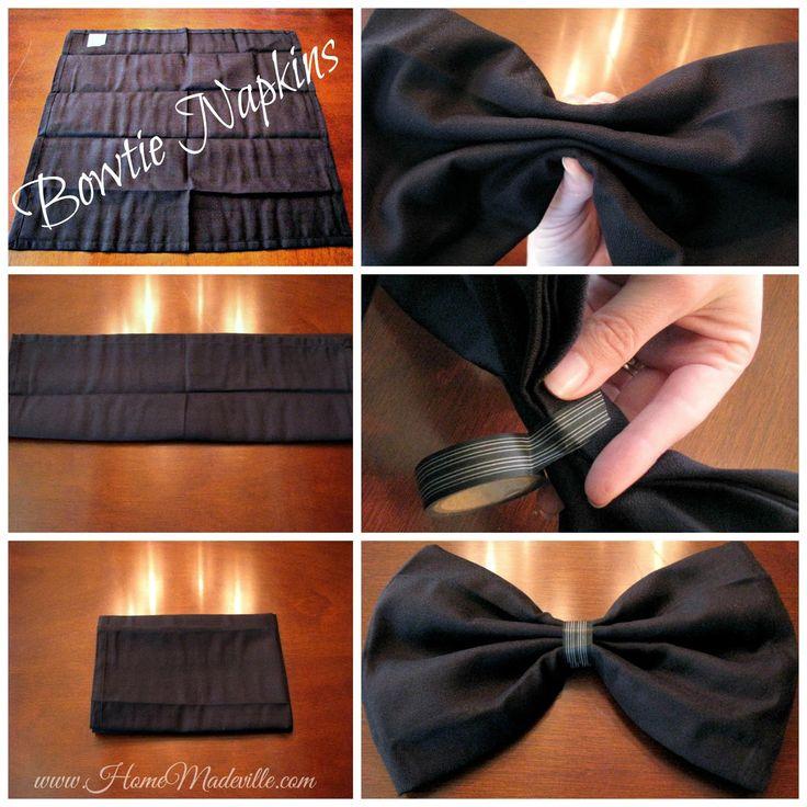 Step by Step How to Bowtie Napkin Fold