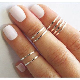 Chicnico Simple jewelry style Rings (set of 4) #516167 (Aff)