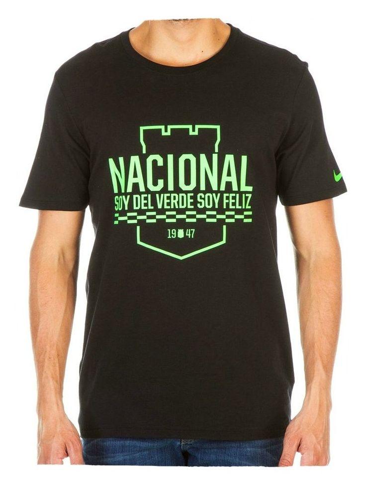 Camiseta Nike M/C Algodón Negra Atlético Nacional 2016