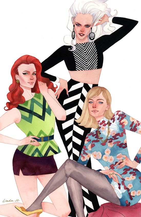 After a lot of time and struggle to get this piece out there and finished, here it finally is! The client wanted a fashion inspired take on Spidey's three leading ladies, Mary Jane, Gwen Stacy, and...