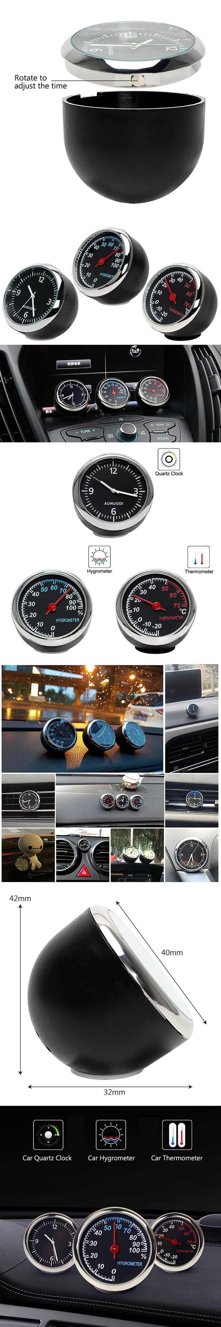 Mini Car Automobile Digital Clock Auto Watch Automotive Thermometer Hygrometer Decoration Ornament Clock In Car Car-Styling New