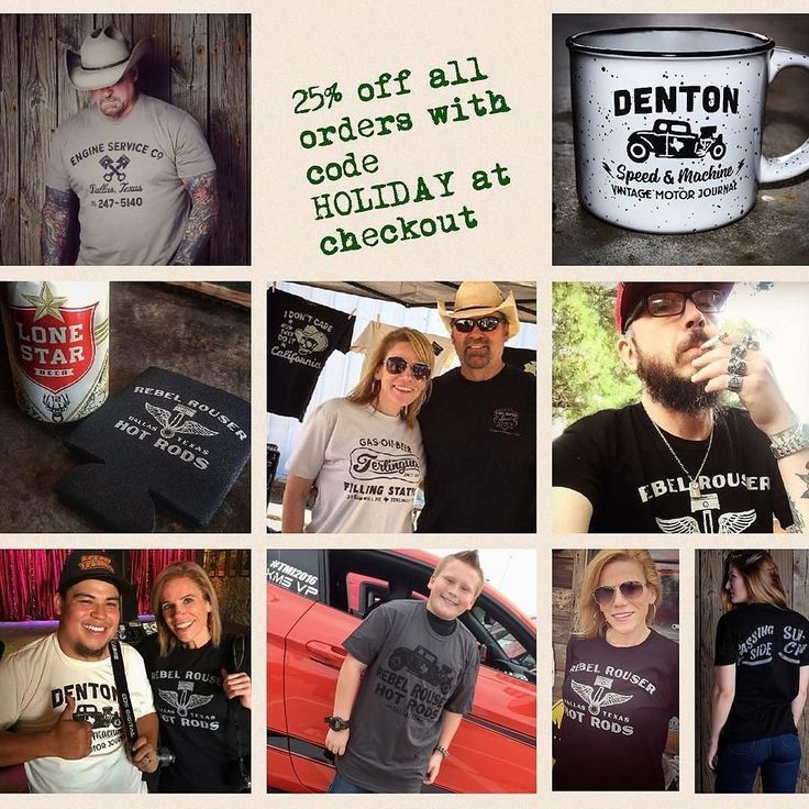 Today only #cybermonday EVERYTHING in our store is 25% off with code HOLIDAY at checkout. Treat family friends or yourself to a unique Texas inspired gift this Holiday season. Link in profile http://ift.tt/22he2Mu ... ... #rebelrouserhotrods #tshirt #tee #ratrod #hotrod #texas #vintagetee #InstaDFW #vintagestyle #denton #dentoning #madeintexas #texastee #texaslove #dallas #dallastx #texasapparel #texan #texaspride #mensfashion #garagelife #starrstudioxtx #signpainter #shopsmall…