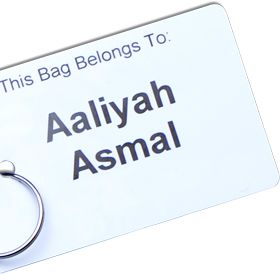 A great way to label you bag neatly http://labels4school.co.uk/