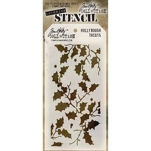 Tim Holtz Layering Stencil HOLLY BOUGH THS015 Preview Image