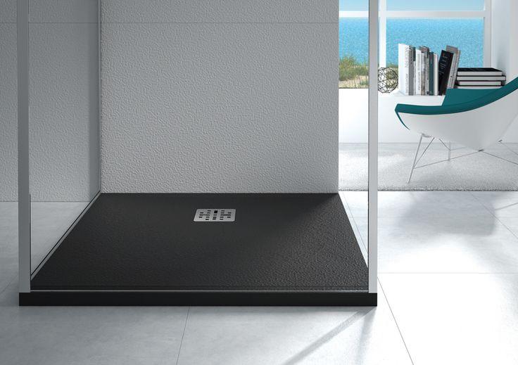 receveur de douche cedam saba receveur couleur pierre anthracite en mineralsolid disponible. Black Bedroom Furniture Sets. Home Design Ideas