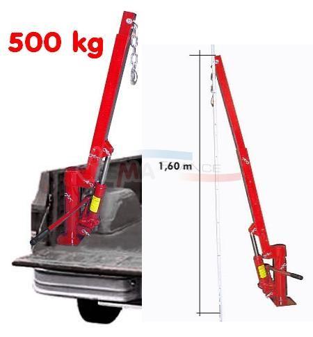 Grue de hayon - Pick-Up - Plateau - Camion - 500 kg