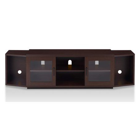 Furniture of America Nadine 70 Inch TV Stand, Multiple Colors, Brown
