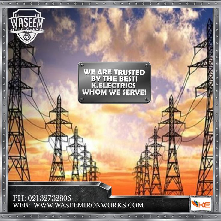We are trusted by the best! K. Electrics whom we serve.  Phone: 02132732806 Mobile: 03213874707 Fax: 02132726624 Email: contact@waseemironworks.com Web: www.waseemironworks.com  #WaseemIronWoks #engeneeringServices #MsIron #MsSteel #Galvanized #Aluminium #Welding #Fabrications #DecorativeIronWork #BespokeIronWork #GatesandRailings #LogBurners #ArchitecturalFixings #IndustrialWorks