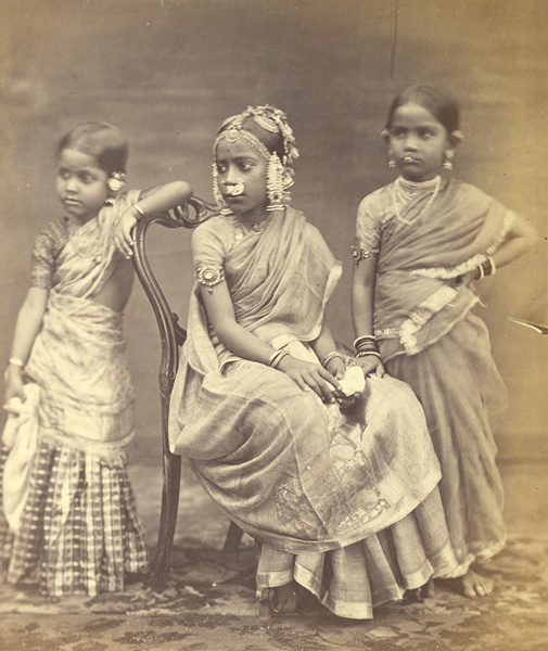 Madras girls in 1870.