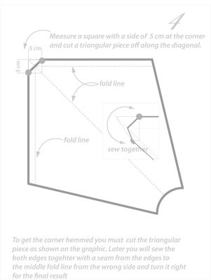 Square skirt pattern drafting tutorial