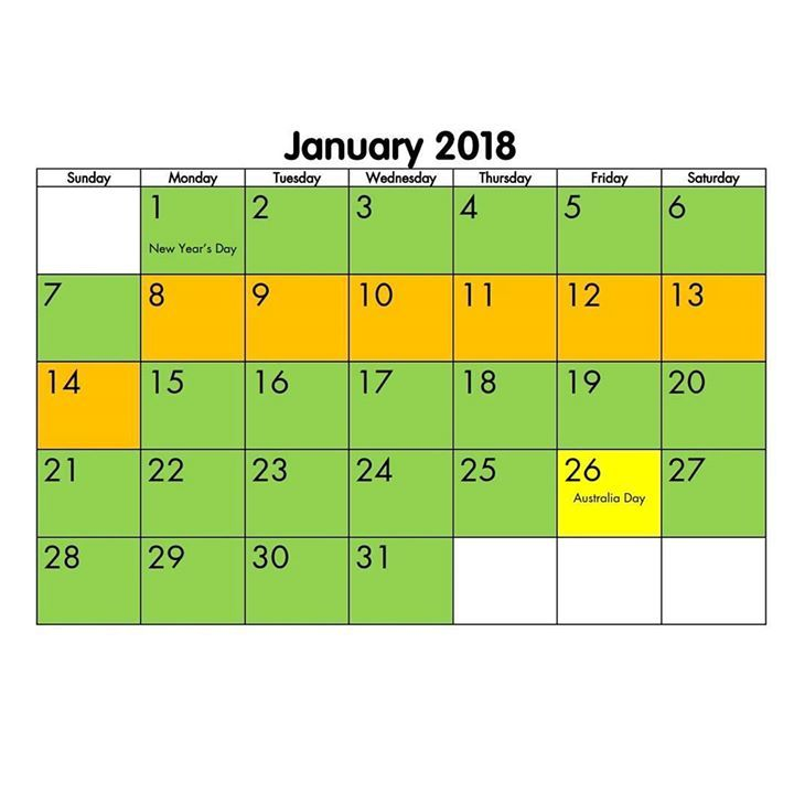 Just a reminder of my availability in January. Please let me know.if you'd like to book petsitting. Regular dog walking services are available on weekdays.    Green = available Yellow = limited spaces Orange = unavailable   Red = booked out  #waggapetsitting #petsitters #outofoffice #suzspetservices