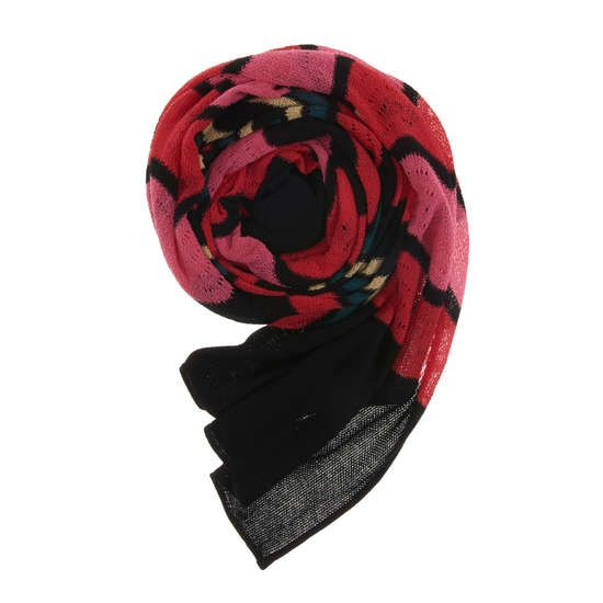 M MISSONI Schal aus Baumwollmix mit All-Over Print ► Der aus einem weichen Baumwollmix gefertigte Schal von M MISSONI kommt mit aufwendigem All-Over Mustermix. Das perfekte Accessoire, um Ihren Sommerlooks der Saison eine Prise pepp zu verleihen.  Maße: 180 x 45 cm (L x B)