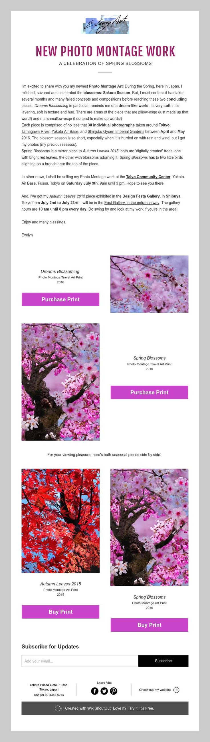 NEW PHOTO MONTAGE WORK  A CELEBRATION OF SPRING BLOSSOMS