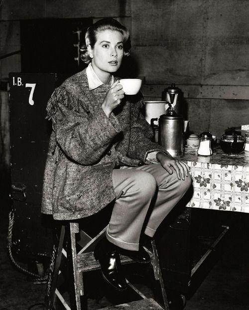 Grace Kelly, coffee break