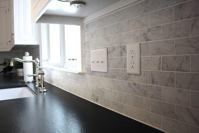 Marble Subway Tile Kitchen Backsplash Ideas Pinterest