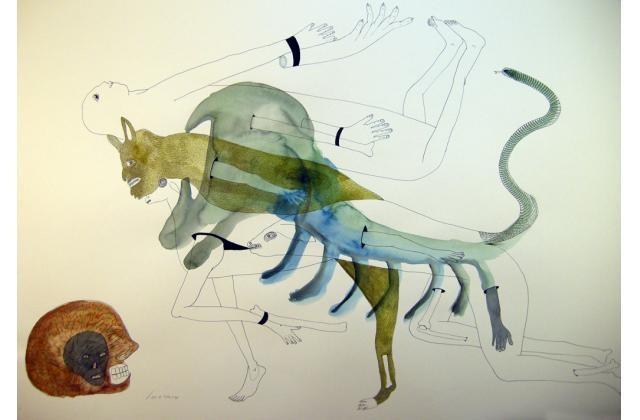 Erik Jerezano | Expecting Rain |Encre et aquarelle sur papier (ink and watercolour on paper) |2011