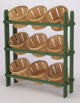 Shelf for Baskets- Looks easy to build...add wheels.
