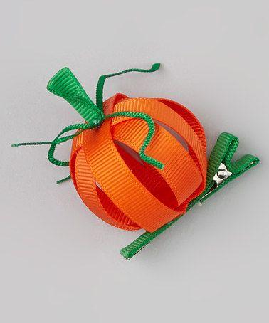 Look what I found on #zulily! Orange Pumpkin Clip #zulilyfinds
