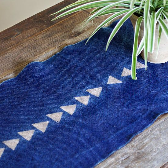 ABOUT This saturated blue table runner is proof that burlap doesn't have to look like it belongs in a farmhouse. Rustic yet modern and chic, this piece is simple and texturally stunning. DETAILS - Han