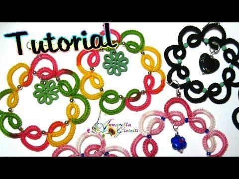 Tutorial orecchini chiacchierino con perline   How to tatting earrings - YouTube