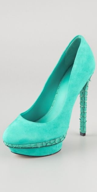 Aqua Heel with Snakeskin platform. Too cute!