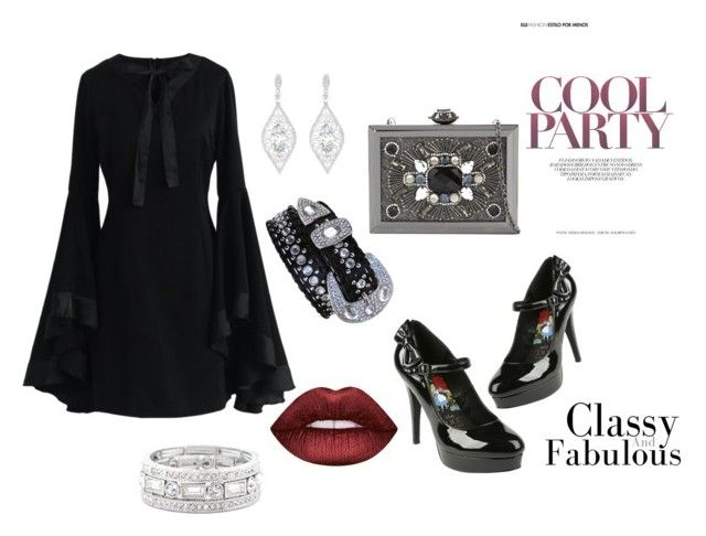 cheap party looks by fdshahnaz on Polyvore featuring polyvore, fashion, style, Chicwish, ALDO, Sole Society, Lime Crime and clothing