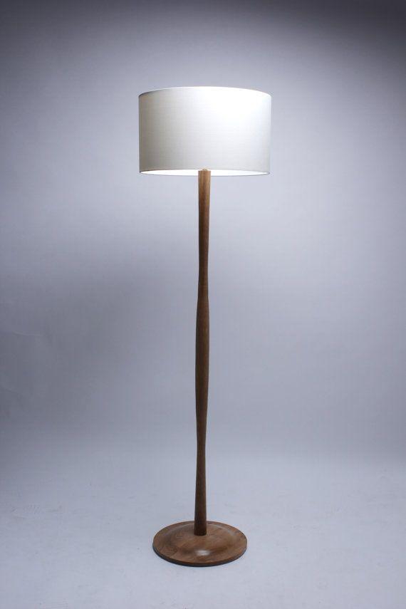 Handmade solid Oak Wave Standard floor lamp by homeandkitchen