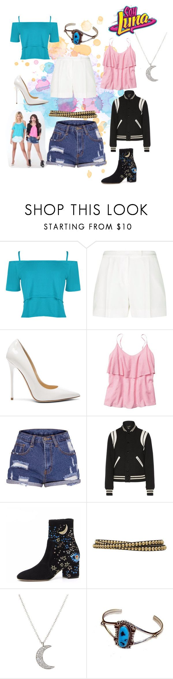 """soy  luna"" by maria-cmxiv on Polyvore featuring WearAll, Elie Saab, Jimmy Choo, Gap, Yves Saint Laurent, Burberry and Finn"