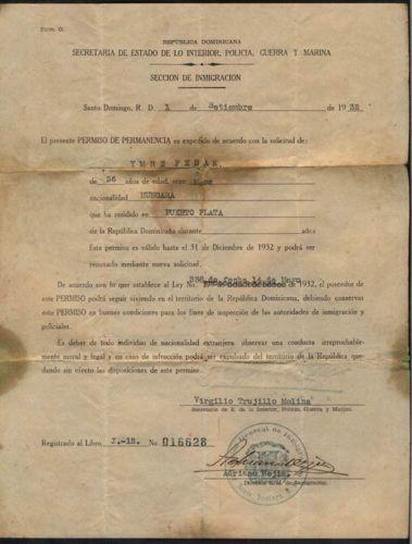 Dominican Republic Army Police Chief Secretary Brother Dicator Trujillo Act 1932 | eBay