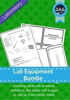 Beginning the year in the Science lab means learning what everything is.  This bundle includes image matching cards with names and functions or image cards with blanks to have students create their own.  There are also blank flap books with the equipment image and then space for the student to write the name and function on the inside.The bundle includes images and functions for the following equipment 1.