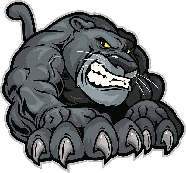 Black Panther Logo Mascot Panther Logo Sports Logo Design Graphic Design Logo