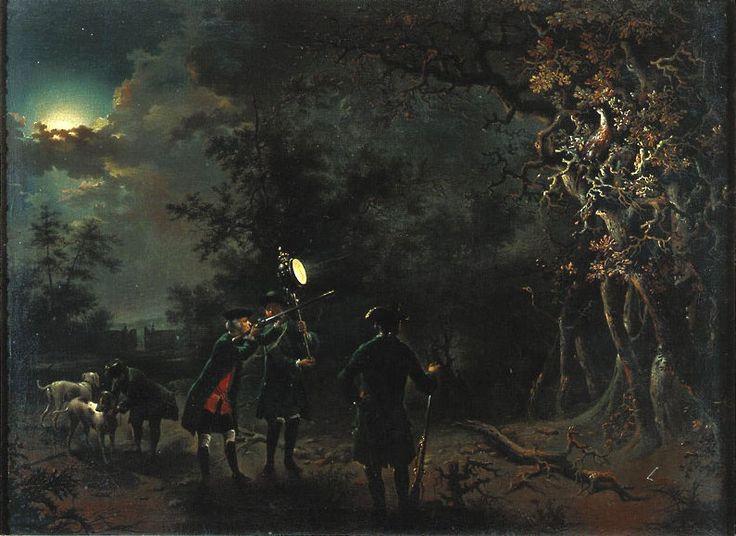 Seekatz, Johann Conrad (1719-1768)  Nächtliche Fasanenjagd eines Fürsten (angeblich Landgraf Ludwig VIII. zu Hessen)  Datierung 1765-68  Identnummer 346638