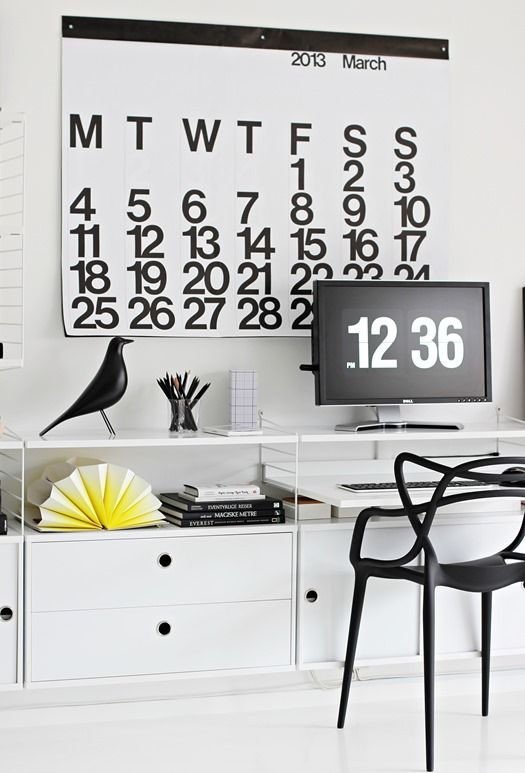 Love this entire setup. So Nordic, so black and white yet that pop of yellow is pretty awesome. \\\ © nordic leaves photography