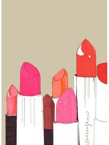 Painting of lipstick